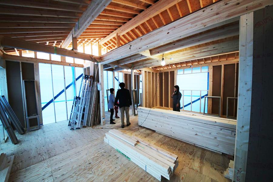 「家族を紡ぐ家」構造見学会