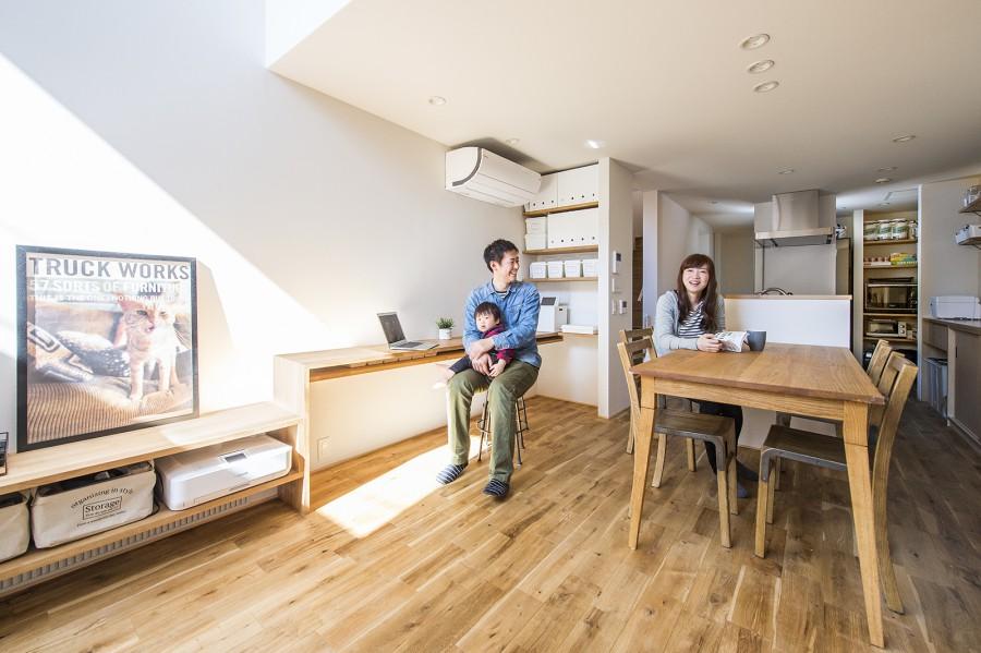 施工例 狭小住宅 建物間口3.6m「通り土間のある家」京都市中京区